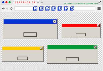 Renders 295 // Computer Windows Messeges Pngs by BEAPANDA