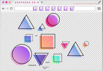 Renders 296 // Geometric Figures Pngs by BEAPANDA