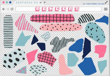 Renders 298 // Torn Paper Color Pngs by BEAPANDA