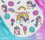Renders 360 // Unicorns Stickers Pngs