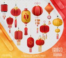 Renders 410 // Chinese Lamps Pngs