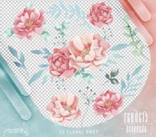 Renders 413 // Floral Pngs