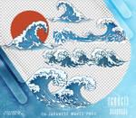 Renders 442 // Japanese Waves Pngs