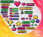 Renders 444 // Pixel Game Buttons Pngs