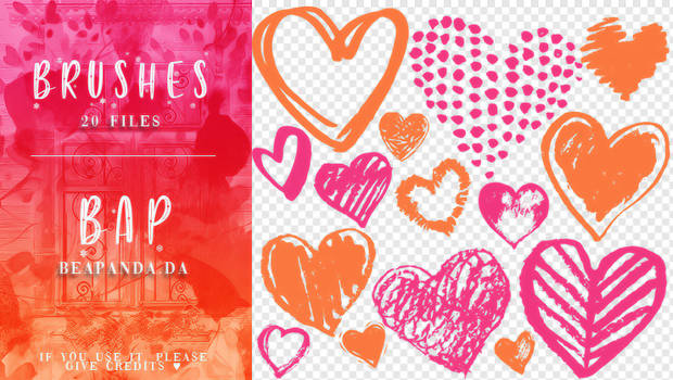 Brushes 110 // Hearts