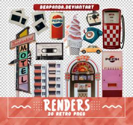 Renders 538 // Retro Pngs