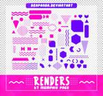 Renders 551 // Memphis Pngs