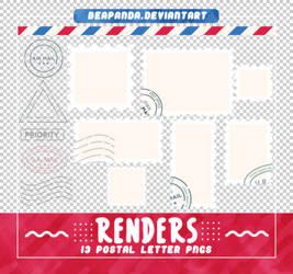 Renders 554 // Postal Letter Pngs