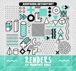 Renders 565 // Memphis Pngs