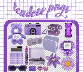 RENDERS | Purple Pngs