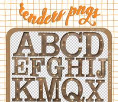 RENDERS | Alphabet (Wooden Letters)