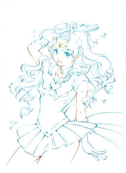 Sailor Neptune Lines to color (traditional)
