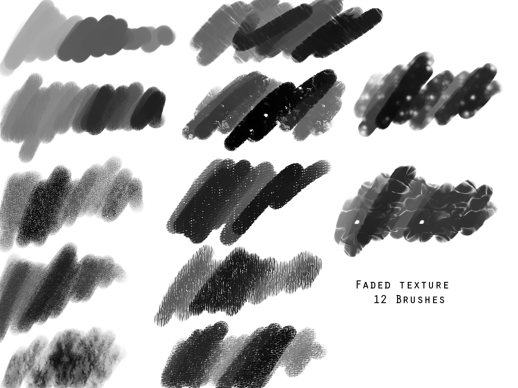 12 Textured Brushes by GeoffryHawk