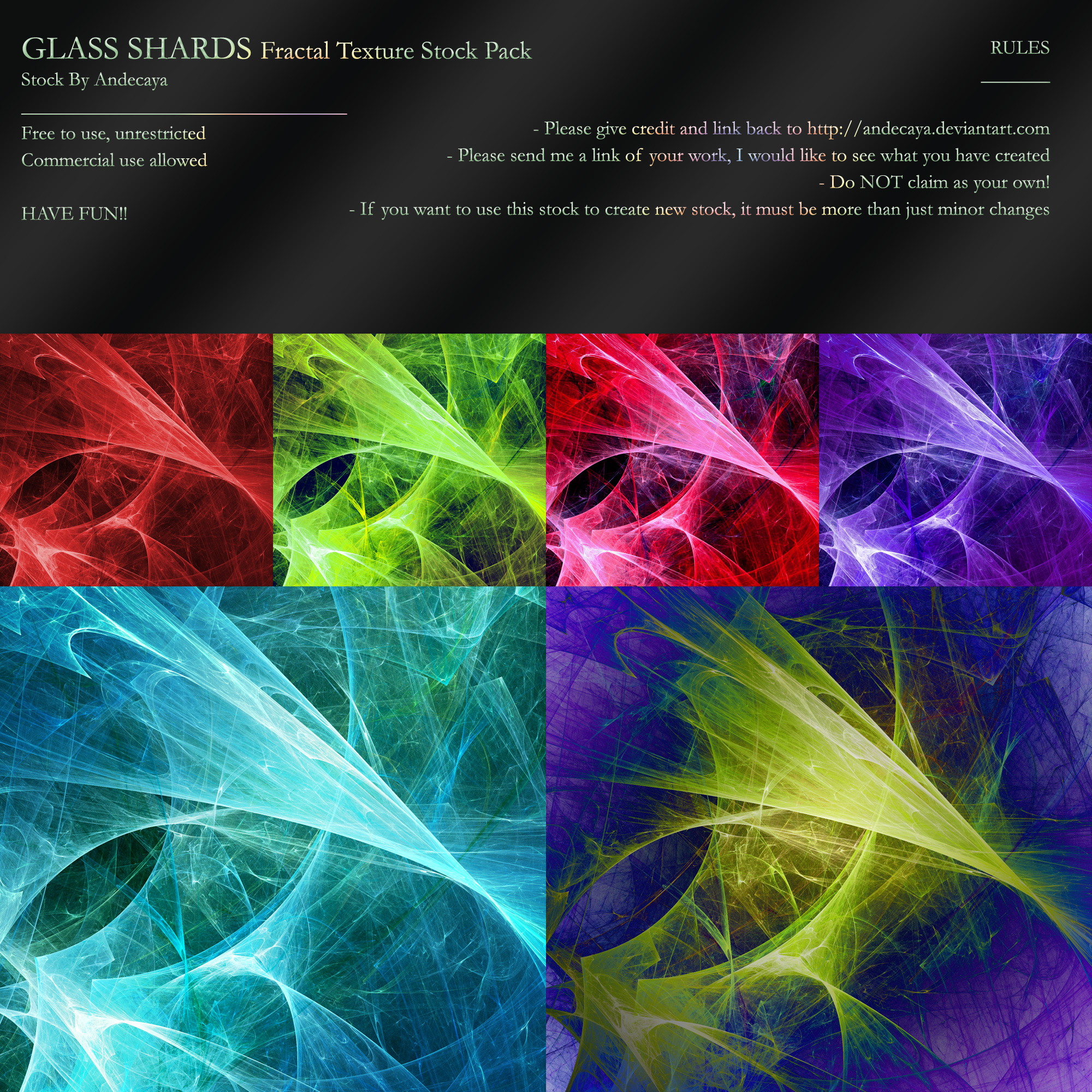 FREE STOCK: Glass Shards by Andecaya