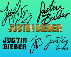 JustinBieber Signatures by ObviouslyCannibal