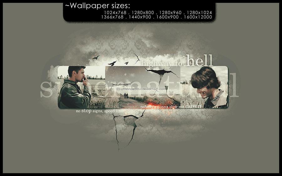supernatural wallpaper by ultraVioletSoul