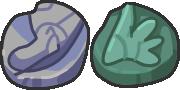 Dream World-like Jaw and Sail Fossil sprites by LDEJRuff