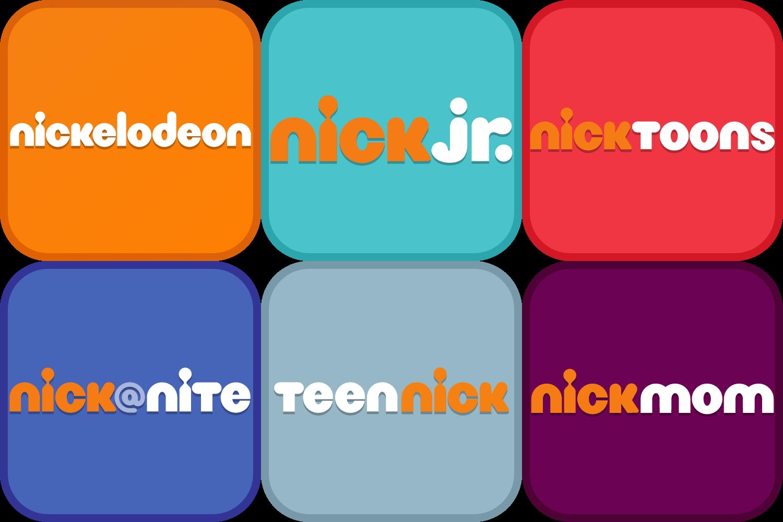 Nick logos (app style) by DecaTilde
