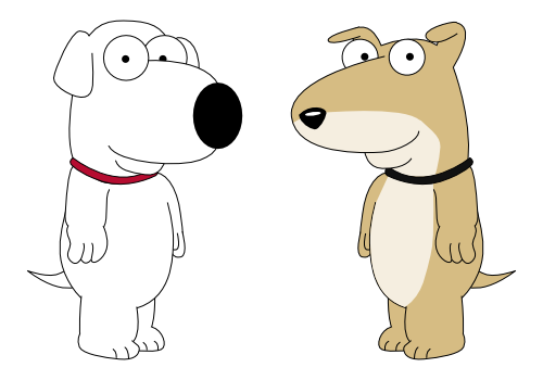 Puppy Brian and Puppy Vinny (for SMBZ Beginnings) by DecaTilde