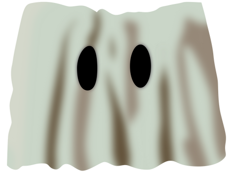 Disney Channel 1983 logo under a ghost sheet