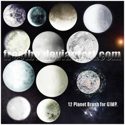 Planet Brush Set for GIMP by FrostBo