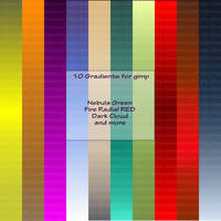 10 GIMP Gradients by FrostBo