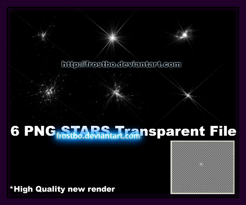 PNG sparkling Stars pack 6
