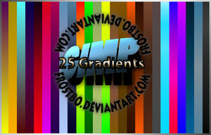 25 Gradients Pack for GIMP by FrostBo