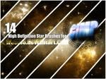 14 Stars Brush for GIMP