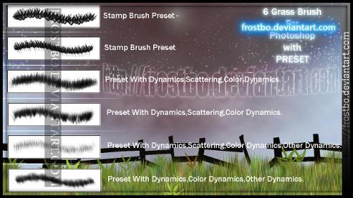 Grass Brush Photoshop SET 1 by FrostBo