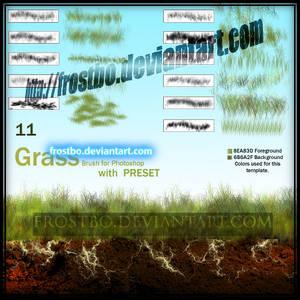 Brush Grass Set2 for Photoshop