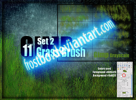 Grass Brush for GIMP SET 2