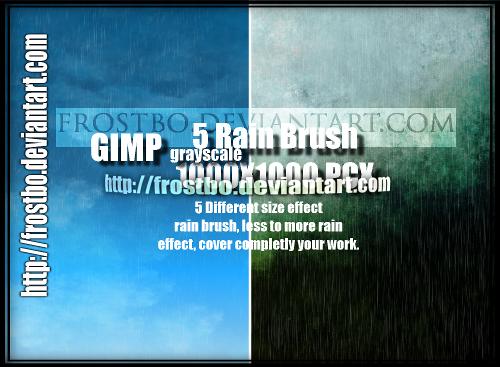 5 Rain Brush GIMP SET 1