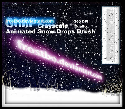 Animated Snow Brush for GIMP
