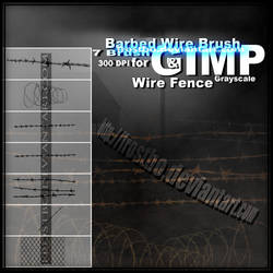 Barbed Wire And Metal Fence