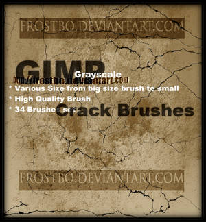Crack Brushes for GIMP