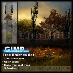 Tree Brush Color SET 1 GIMP