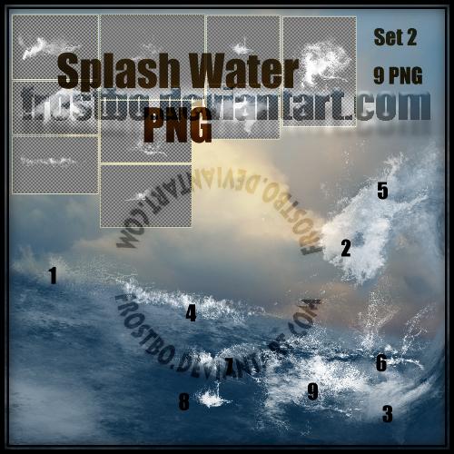 Water Splash Effect SET 2 PNG