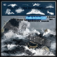 Water Splash Brushes GIMP SET 1 by FrostBo