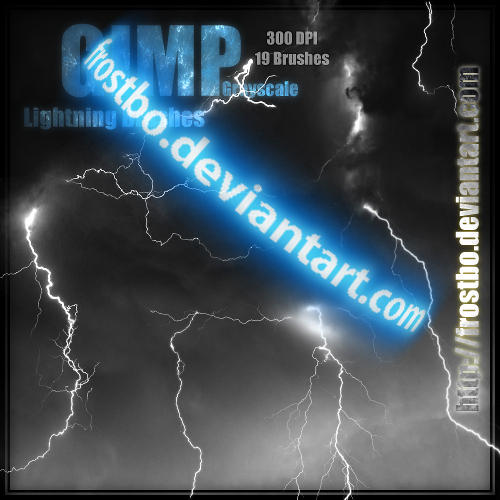 Lightning Brushes GIMP by FrostBo