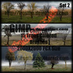 Tree Brush Set 2 GIMP