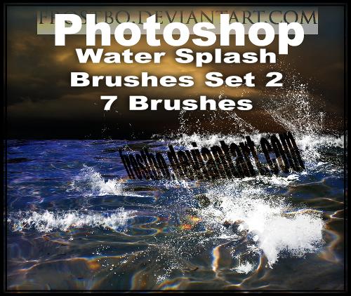 Water Splash Brushes PS SET 2