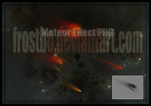 Meteor Effect render PNG