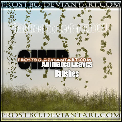 Animated Leaves Gimp Brushes by FrostBo