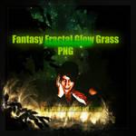 Fantasy Fractal Glow Grass PNG