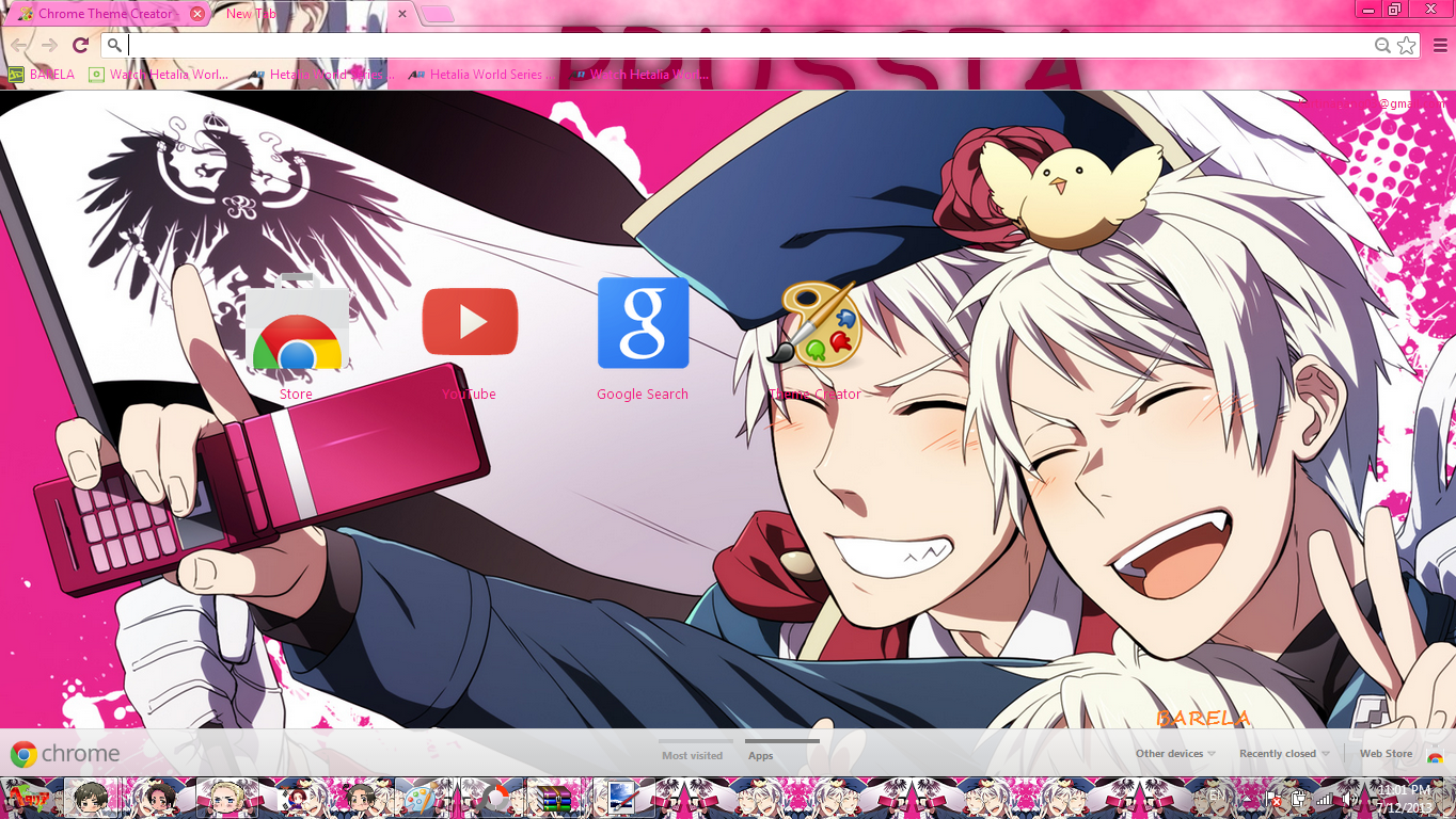 Google themes hetalia