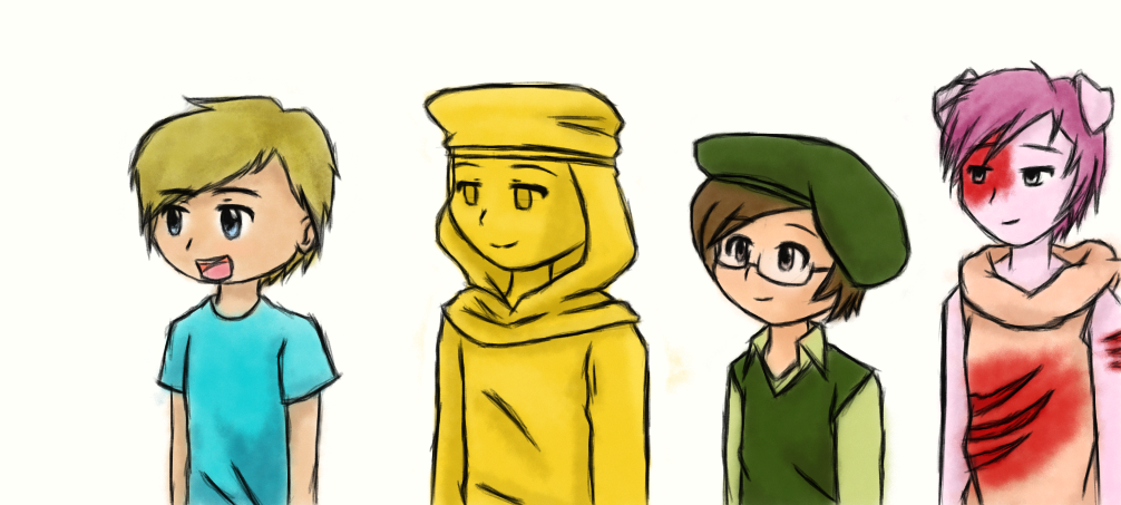 Pewdiepie, Stephano, Mr. Chair, and Piggeh by ...