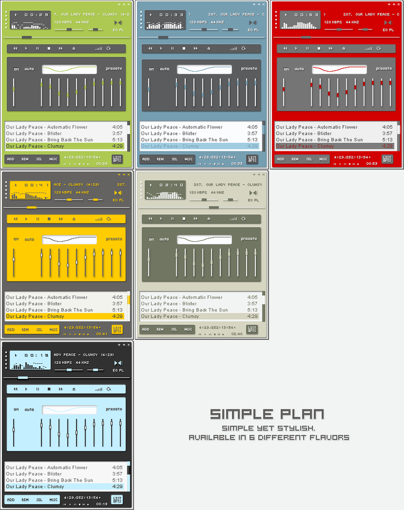 Simple Plan for Winamp by heylove