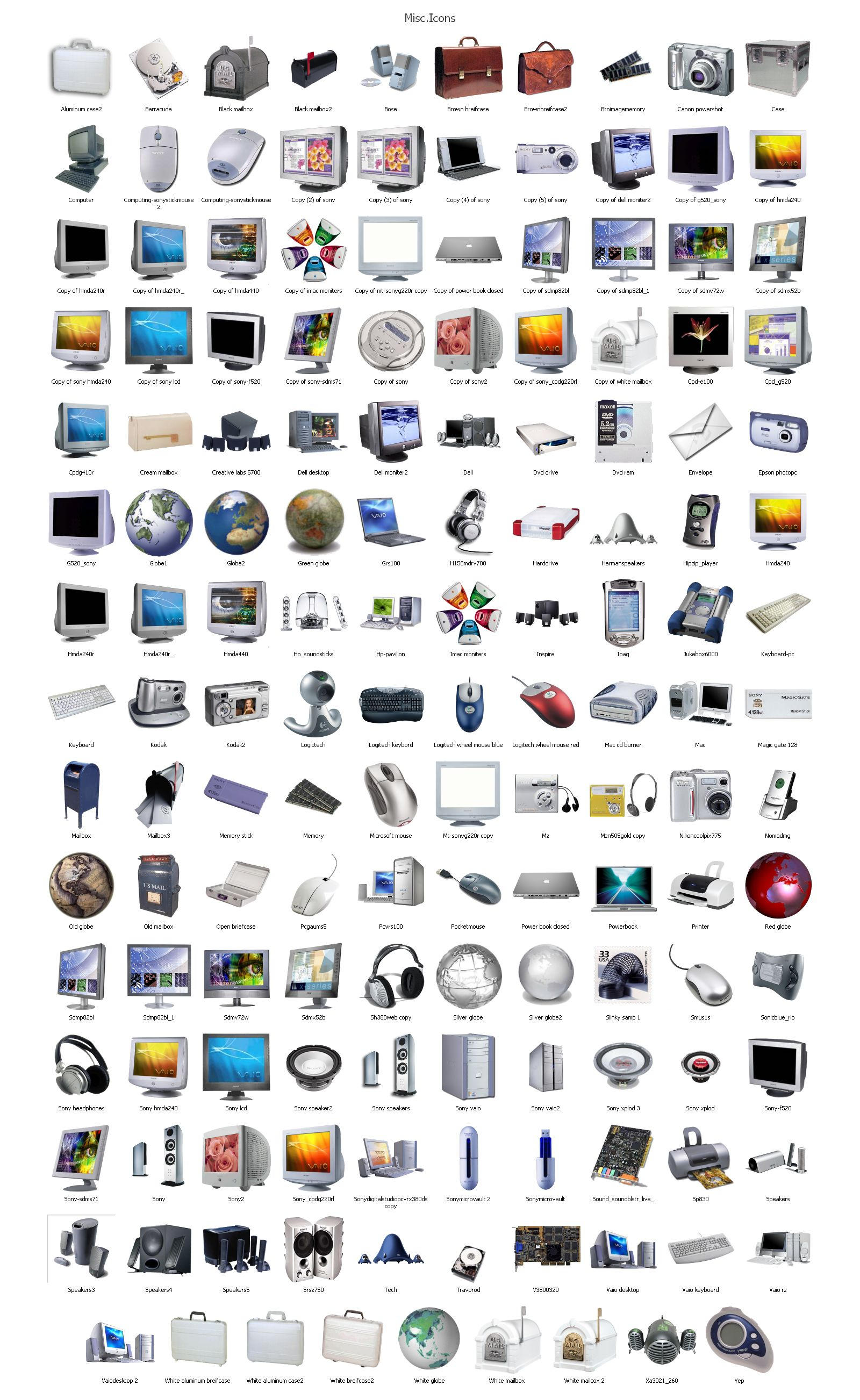 Misc computer Icons part 1 by heylove