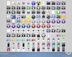 Obsidianus - Complete Icon Set by r3dlink13